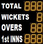ESU9CL12 standard electronic cricket scoreboard
