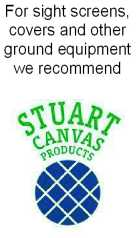 Stuart Canvas supply sight screens and other ground equipment.