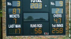 Solar Powered Scoreboard at Westbury CC